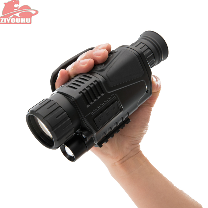 ZIYOUHU 5 x 40 Digital Infrared Powerful HD Night Vision Scope Tactical Night Viewing for Hunting Scope Monocular Night Vision