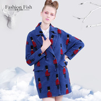 Ssxiaoyu autumn and winter woolen outerwear female suit collar double breasted medium long thickening woolen overcoat female
