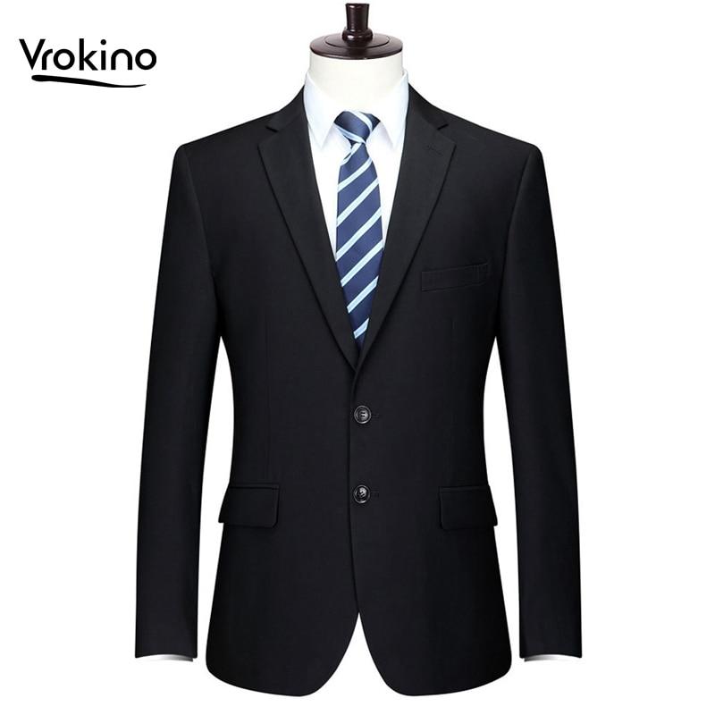 جديد العلامة التجارية في 2019 زائد حجم حجم XL 9XL الرجال سترة الأعمال الترفيه أزياء مكتب دعوى معطف الرجل الرجال سليم صالح اللباس-في السترات من ملابس الرجال على  مجموعة 1