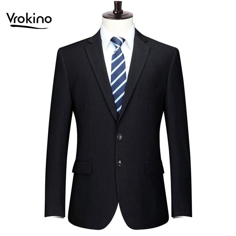 New Brand In 2019 Plus Size Size XL-9XL Men's Blazer Business Leisure Fashion Office Suit Coat The Man Men Slim Fit Dress