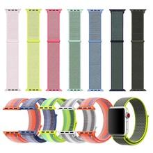 купить luxury Lightweight Breathable Nylon Sport Loop Band for Apple Watch Series 3 2 1 42MM 38MM for iWatch 123 watchband Sport Loop по цене 586.18 рублей