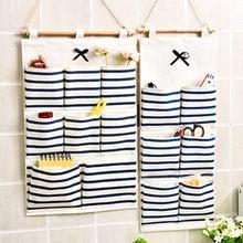 Nouveau sac de rangement multifonction en coton et lin, sac suspendu mural, cuisine salle de bains, rangement, décoration de la maison