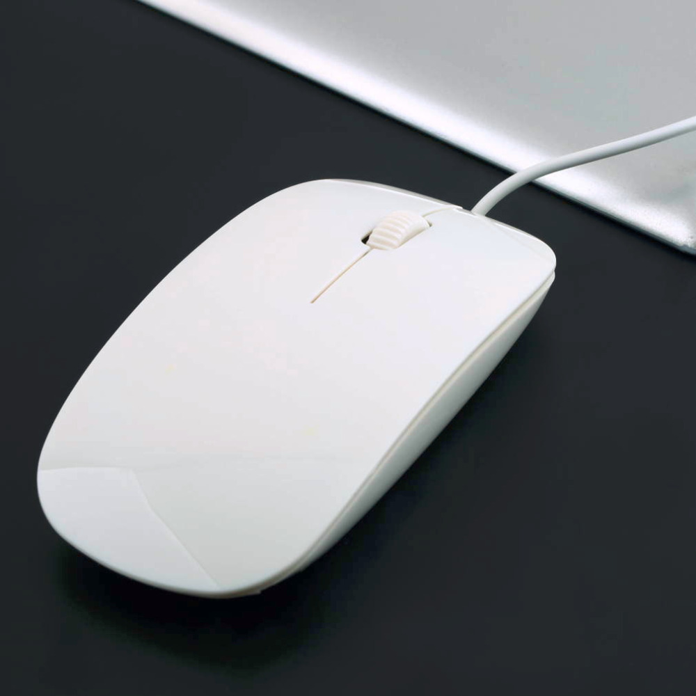 White USB 1600DPI Wired Optical Mouse Mice 4 For Apple For Macbook For MAC Laptop PC Notebook Hot Sale in stock!!!