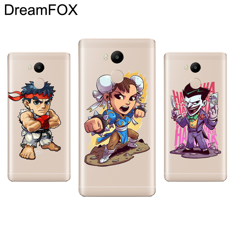 DREAMFOX L021 Cute Cartoon Characters Soft TPU Silicone Case Cover For Xiaomi Redmi Note 3 4 5 Plus 3S 4A 4X 5A Pro Global