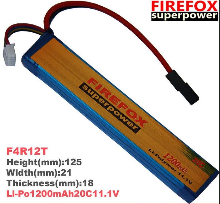 1pcs 100% Orginal Firefox 11.1V 1200mAh 20c LiPo Li-Po Li-Polymer Battery 25C Drop shipping аккумулятор li po 11 1 вольт firefox в туле