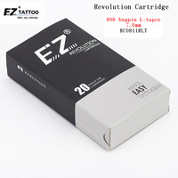 Hot Sale EZ New Revolution Tattoo Needles Cartridge Round Liners #08For Cartridge machines and grips RC0811RLT 20 pcs /box
