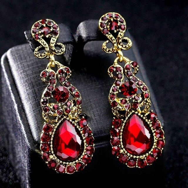 10 стиль винтаж сплав Бабочка кисточкой серьги с камнями для женщин обувь девочек свадебные Кристальные Стразы подвес Свадебные