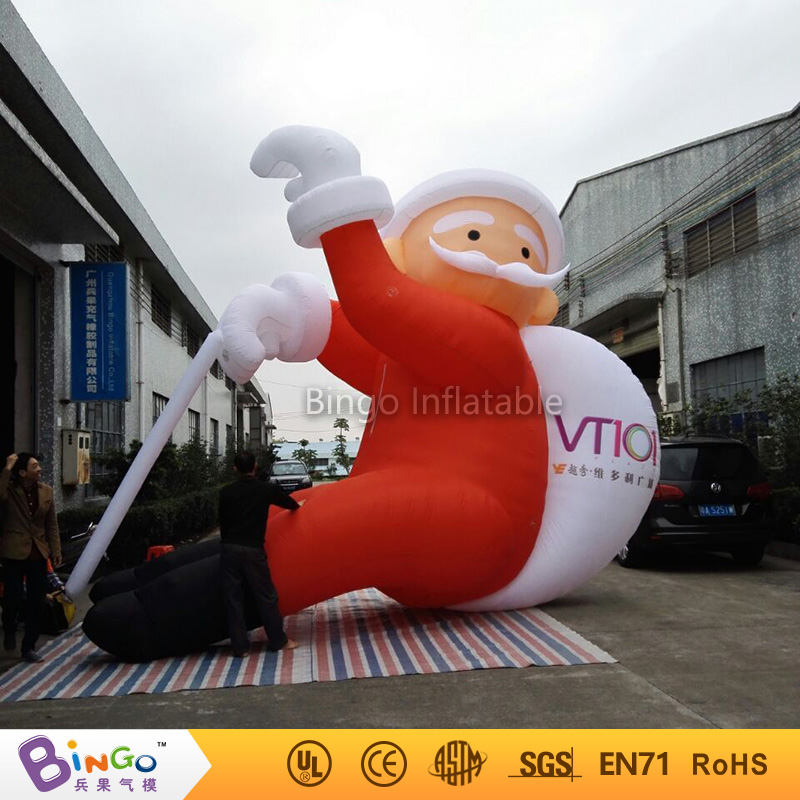 20ft high(6m) outdoor christmas inflatable santa claus climbing wall with gift bag for advertising -toy 5m high big inflatable christmas santa claus climbing wall decoration 16ft high china factory direct sale festival toy