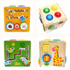 1Set Wooden Hammering Ball Hammer Box Children Fun Playing Hamster Game Toy Early Learning Educational Toys