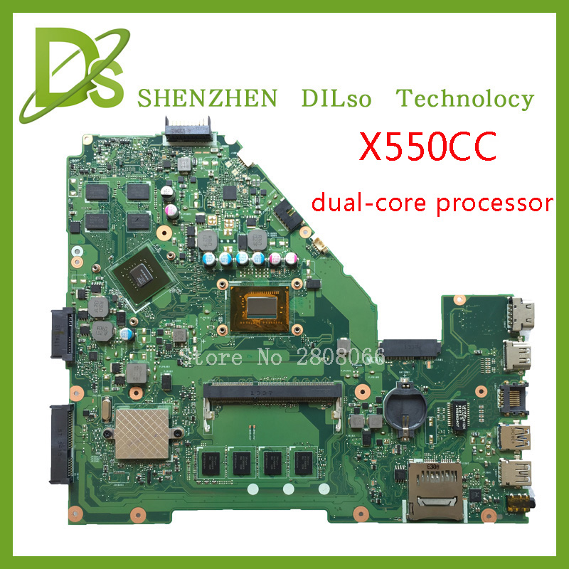 For ASUS X550CC X550CL Laptop motherboard X550CC mainboard REV2.0 with graphics card freeshipping 100% tested for asus x550cc x550cl laptop motherboard x550cc mainboard rev2 0 with graphics card i3 cpu onboard freeshipping 100