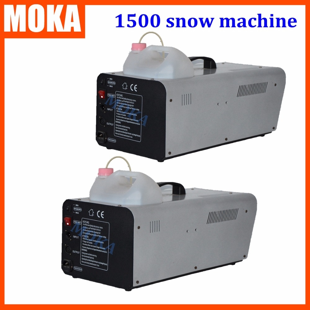 2 Pcs/lot 1500W Snow Maker machine disco projector christmas decoration Stage DJ Effect DMX Control party machine
