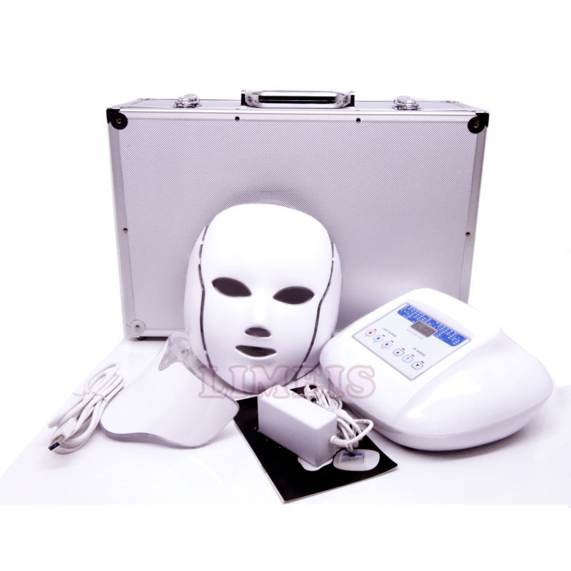 Multi Function Photon Led Facial Mask 3 Colors Infrared Micro Current Massager Skin Rejuvenation Anti-aging Beauty Therapy Mask