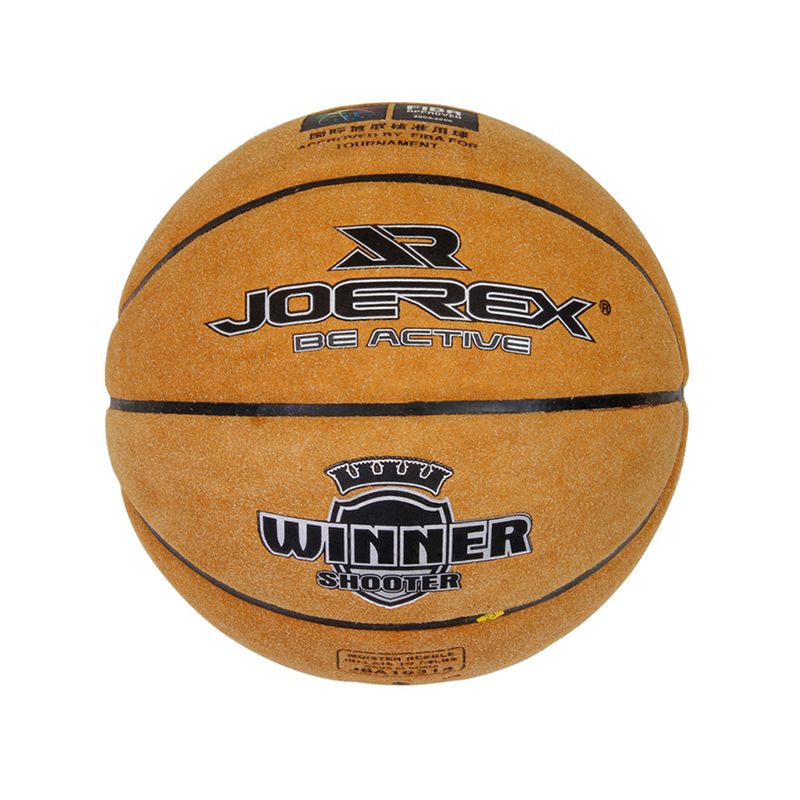 Joerex Professional Indoor Outdoor Cow Leather Basketball Ball Non-Slip Men Women Training Basket Ball Equipment