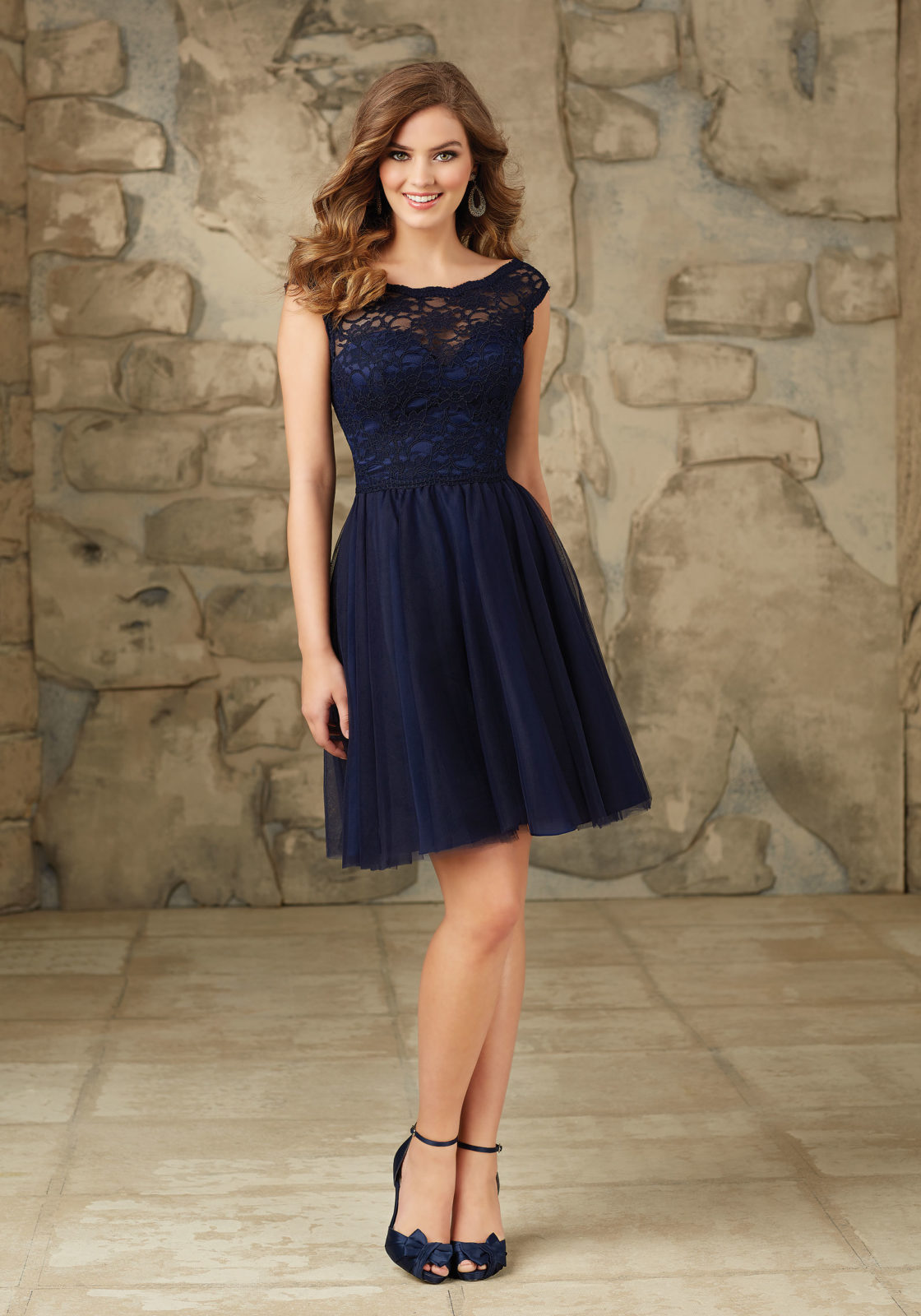 Online get cheap navy blue bridesmaid dresses short chiffon 2017 navy blue chiffon lace short bridesmaid dresses appliques pleated cheap wedding party gowns maid of ombrellifo Gallery