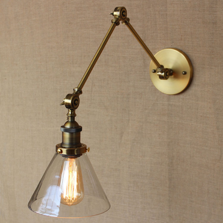 American Industrial Loft Style Golden Old Exclusive Design Bronze Iron Light Bedroom Light Coffee Shop LED Lamp Free Shipping 1 2 head american countryside retro style wrought iron loft wall lamp bedroom light coffee shop decoration lamp free shipping