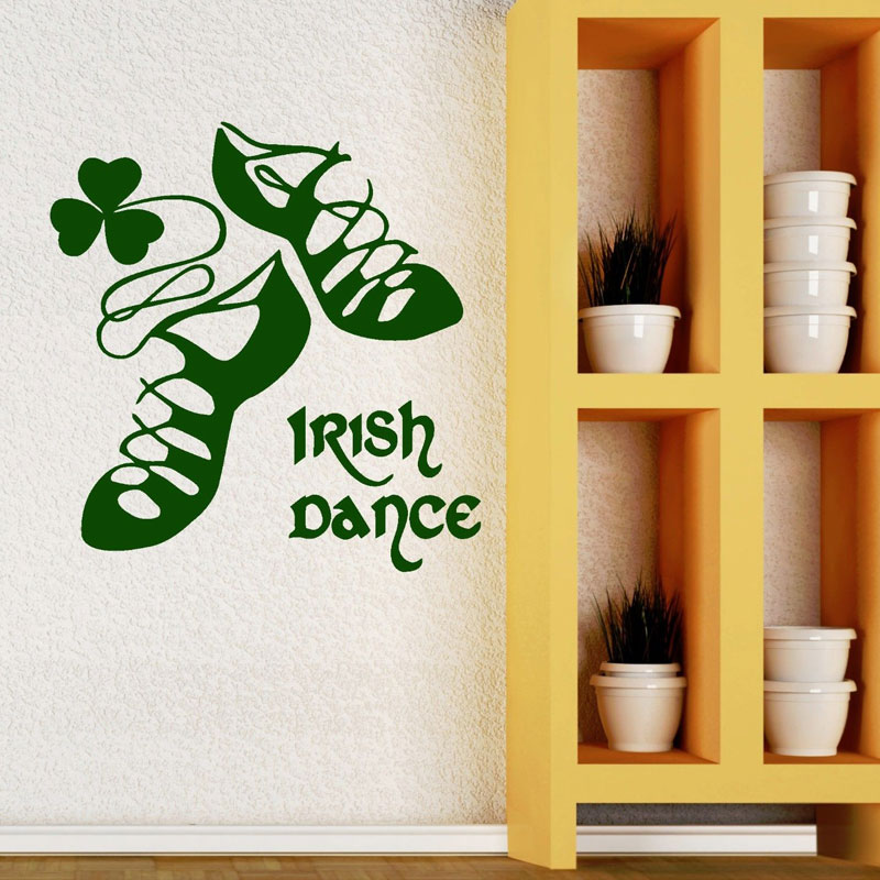 Irish Dancing Ireland Wall Vinyl Sticker Dance Shoes Home Decor For ...