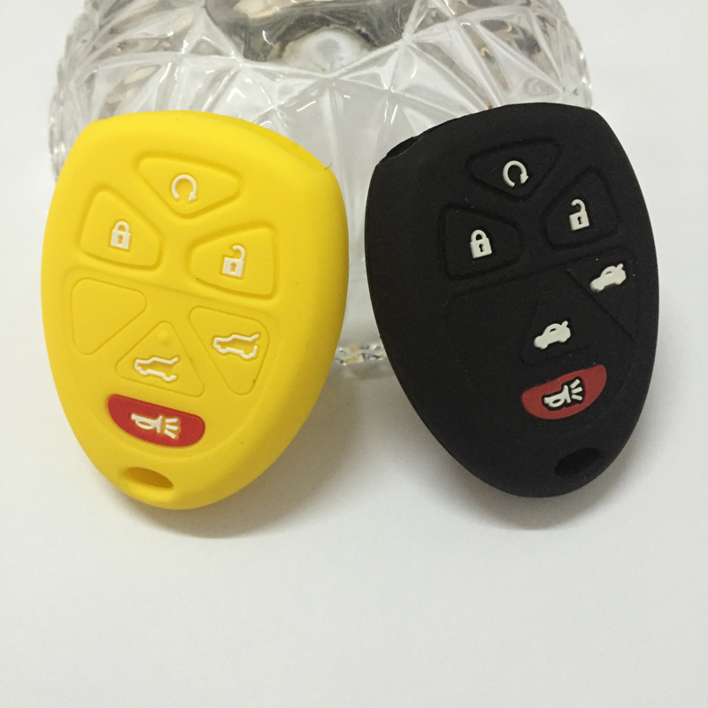 Silicone car key rings forGMC Buick Chevrolet Impala Suburban Tahoe Trave key chain key case key