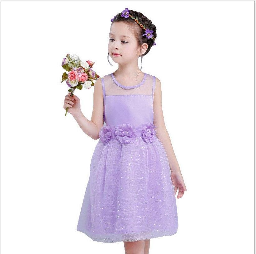 Girls Dress for Children Summer Sleeveless Lace Princess Wedding ...