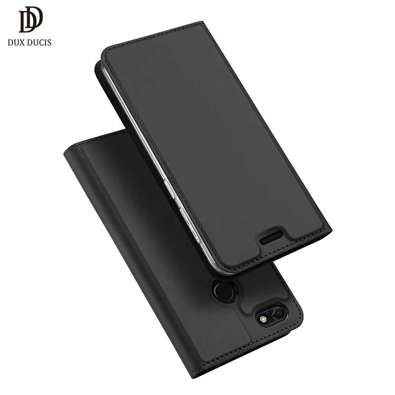 "DUX DUCIS Luxury Flip PU Leather Case for Huawei P9 Lite Mini 2017 5.0"" Stand Wallet Phone Case for Hawei P9Lite Mini Cover Capa"