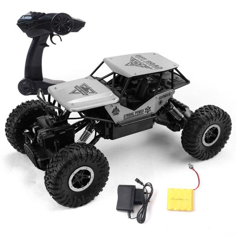 rc car 1 18 24g 4ch 4wd rock crawlers 4x4 driving car double motors drive bigfoot car model off road toys kid gift