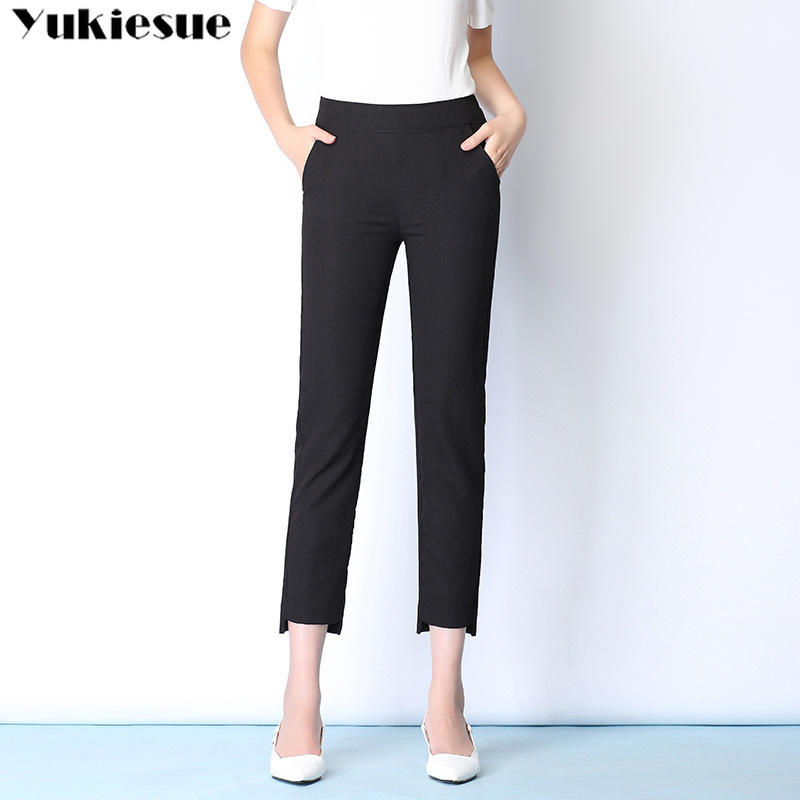 streetwear summer 2019women's   pants   female high waist cotton linen harem   pants     capris   for women trousers woman Plus size 5xl