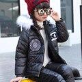 Следующий Бренд 2016 Зимние Девушки Одежда Наборы Мультфильм Животных Граффити Девочка Одежда Установить Случайный Толстый Snowsuit Дети Теплые Костюмы