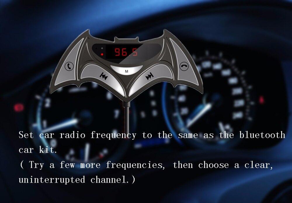 Bluetooth 4 2 bluetooth car kit FM Transmitter & 3 5mm