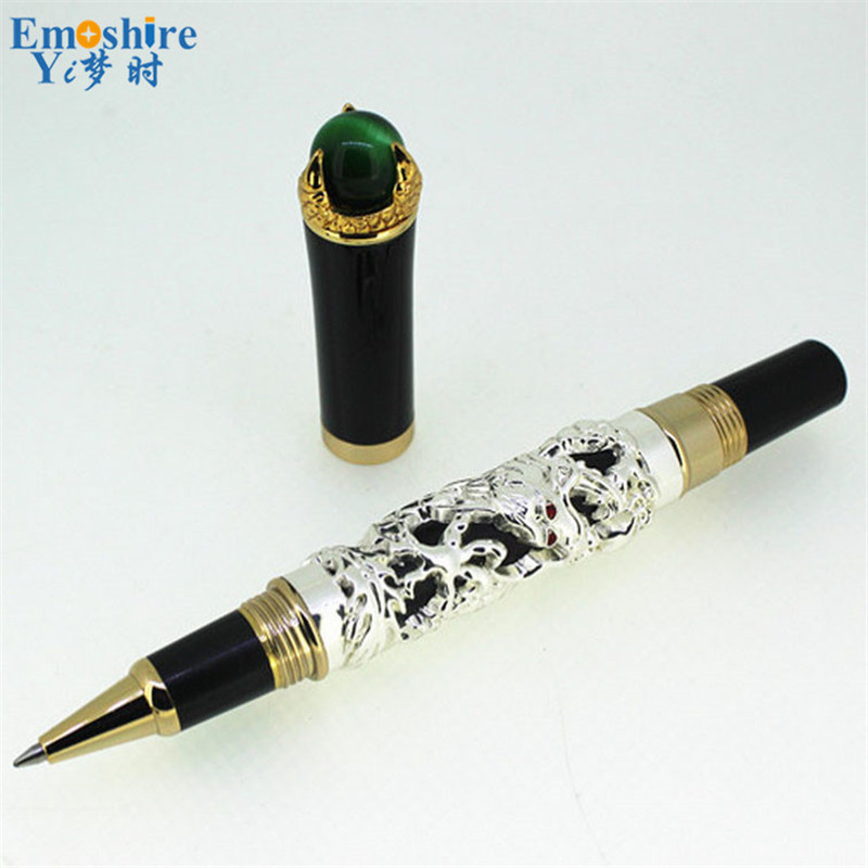 Fashion Top Brand Ballpoint Pen Classic Design Luxury Silver Roller Ball Pens for Office School Writing Stationery Supplies JH03 high quality stationery office school supplies brand pen jinhao x750 black with silver clip roller ball pen for writing
