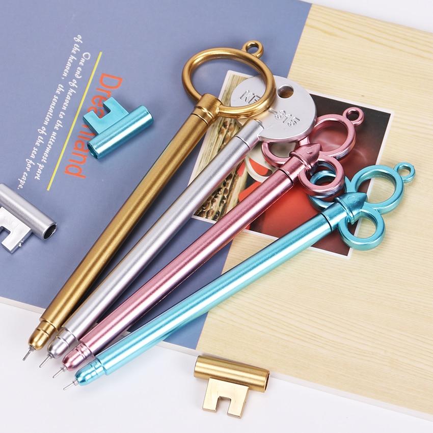 Jonvon Satone 36pcs Key Gel Pen Wholesale Black Neutral Pen Stationery Material Escolar Kawaii Creative Office School Supplies