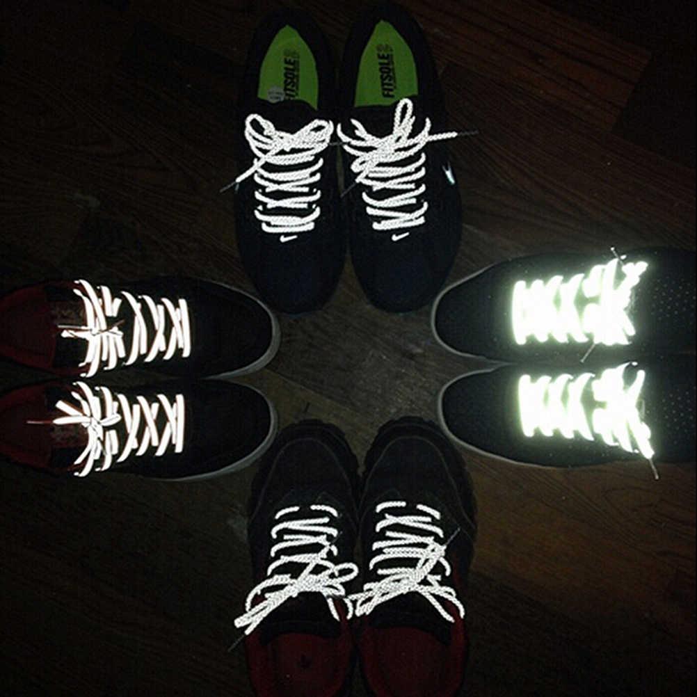 Venta caliente moda poliéster Paisley reflectante zapatos Ronds seguridad Visible Cordon zapato encaje 120 cm cuerda de zapatos
