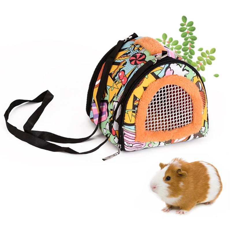 Portable Small Pet Travel Bag Hamster Carrier Breathable Outdoor Hedgehog Bag