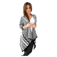 TFGS Spring Autumn Fashion Women Cardigan New Style Casual Knitted Cardigan Sexy Pattern Design Jacket