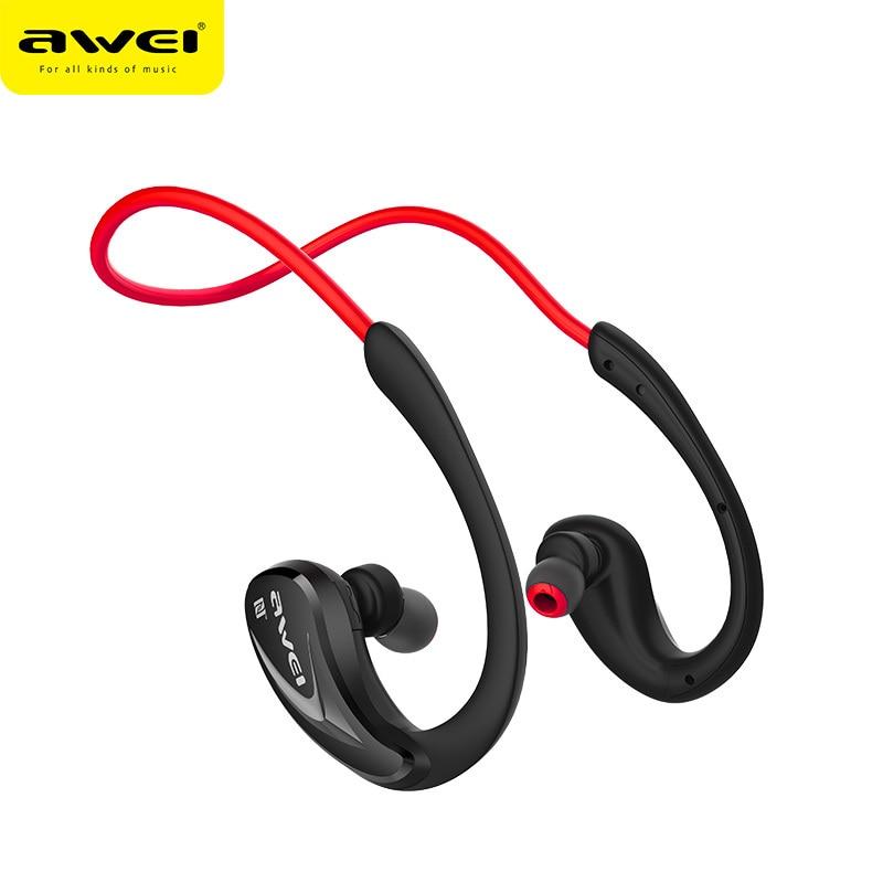 Original Awei A880BL Bluetooth Earphone Sports V4.0 Sweatproof Wireless Earbuds Neckband Earhook For iPhone Earphones