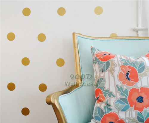 Harga Wall Sticker Deco : Gold dot wall sticker removable home decoration art