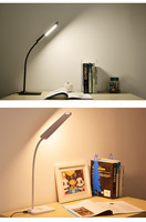 Folding Design LED Desk Lamp Dimmable Touch Control Table Lamp Office Light With USB Charging Port