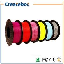 17 colors 3D Printer Filaments PLA 1.75/3.00mm  1kg(2.2lb) for Createbot/Makerbot Reprap Mendel UP Machine