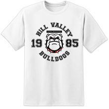 Mens Back To The Future Hill Valley High Bulldogs T Shirt Flux Capacitor McFly  New Shirts Funny Tops Tee Unisex