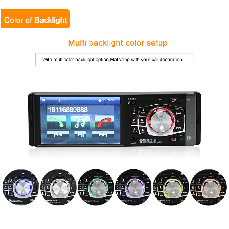 2018 Auto Parts Car Radio In Car Radios 4.1 Inch Car Audio Handsfree Bluetooth Call MP4 Radio Car MP5 Card Player Display 2018 auto parts car radio in car radios high definition 7 inch car mp5 player car bluetooth music mp4 card radio player display