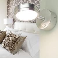Universal head LED bedroom adjustable light wall lamp simple wall hanging wall eye reading lamp