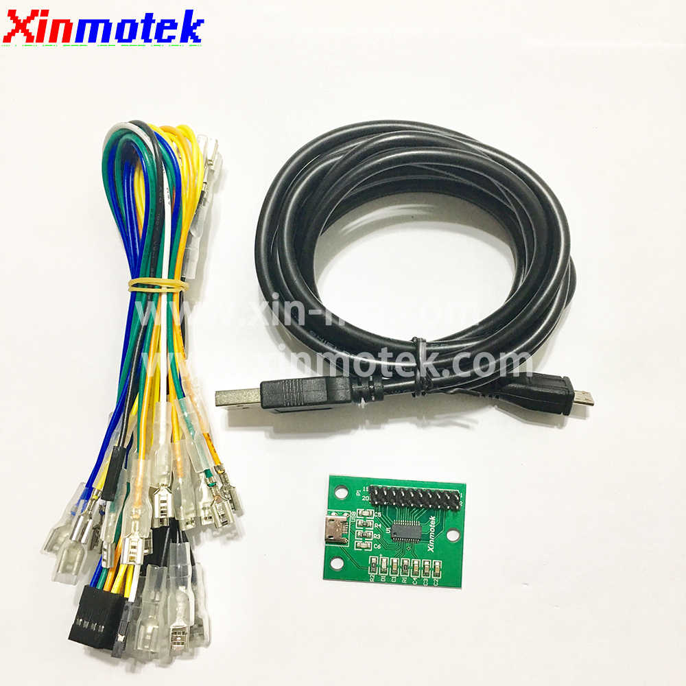 Xinmotek XM-08 Single Player Arcade Game Controller For PS3 PC Android Raspberry Pi, Zero Delay USB Encoder, JAMMA MAME Machine