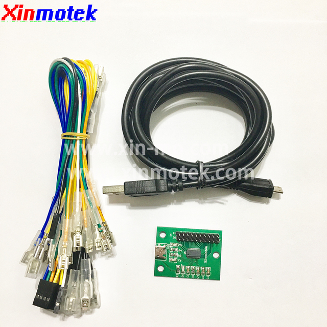 Xinmotek XM-08 Single Player Arcade Joystick Controller For PS3 PC Android Raspberry Pi / JAMMA MAME Game Machine Accessories