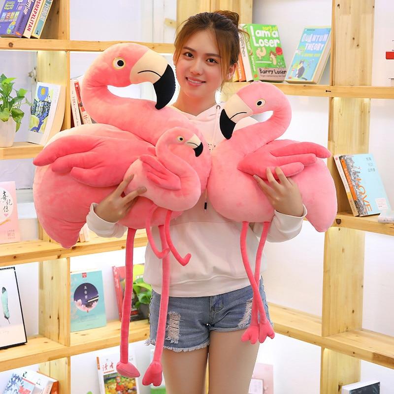 Cute Lovers Courtship Plush Pillows Toys 38/50/70cm Animal Cartoon Flamingo Stuffed Toys Women Girl Amativeness Marry Toys MR003