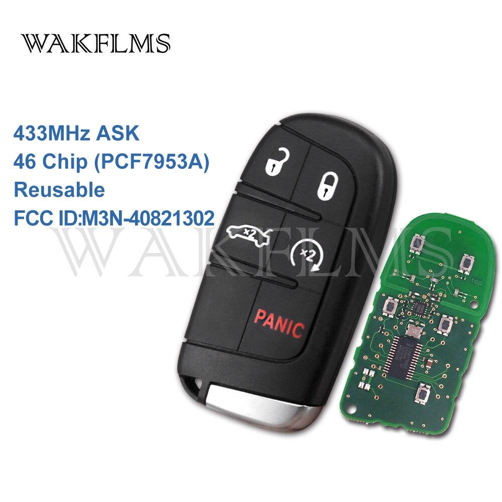 5 Кнопка умный дистанционный ключ для автомобиля с 433 МГц для Chrysler Dodge Зарядное устройство Путешествие Challenger Дуранго 300 HITAG 2 46 чип M3N-40821302