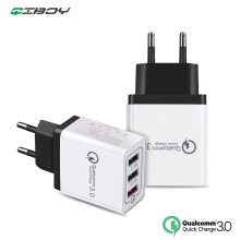 QC 3.0 Mobile Phone Travel Charger For iPhone 7 8 Huawei Xiaomi Quick Charge 3.0 Wall 3 USB EU Charger Smart PD Charging Adapter 3 usb charger quick charge 3 0 fast charging adapter 24w mobile phone qc wall usb cable charger for iphone samsung huawei xiaomi