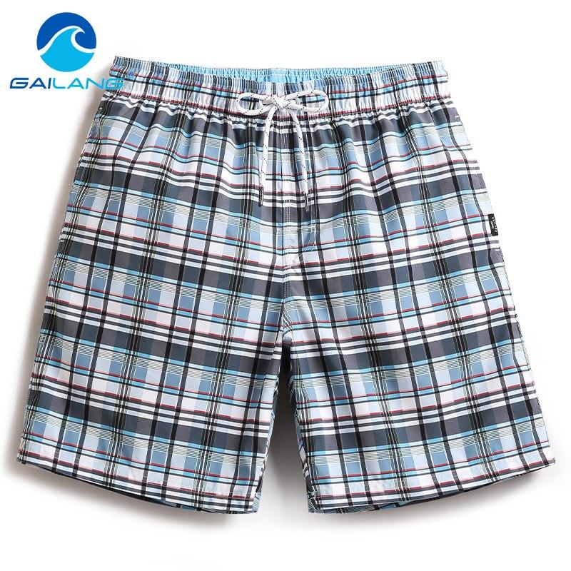 Gailang Brand Men's Beach Board Shorts Quick Drying Men Short Bottoms Bermuda Casual Polyester Swimwear Swimsuits Plus Big Size