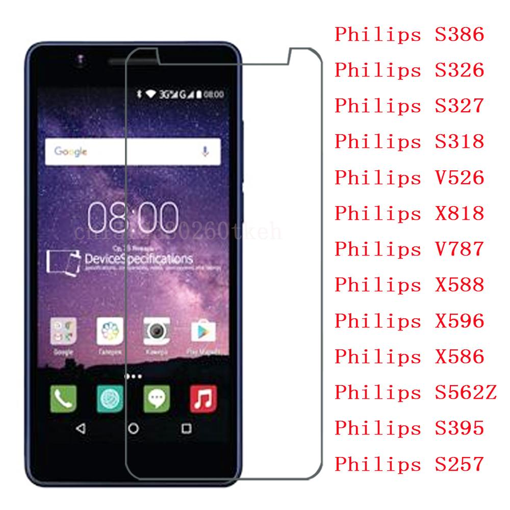 Tempered Glass For Philips Xenium S386 S326 S327 S318 V526 V787 S562Z S395 S257 Film Protector For Philips X818 X588 X596 X586