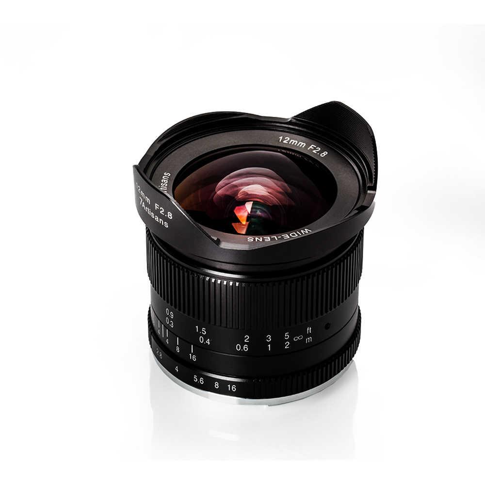 7 artisans 12mm f2.8 objectif Ultra grand Angle pour Sony e-mount APS-C appareils photo sans miroir A6500 A6300 A7 objectif fixe à mise au point manuelle