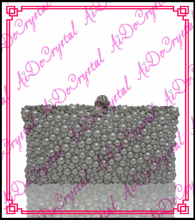 Aidocrystal special grey crystal blink rhinestone clutch bag and shoes set for party