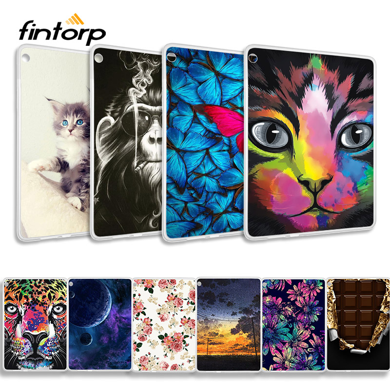 Soft TPU Case For Lenovo Tab M10 Cases TB-X605F X605 X605F 10.1 Inch Silicone Back Painted Protective Cover Bumper Shell Capa