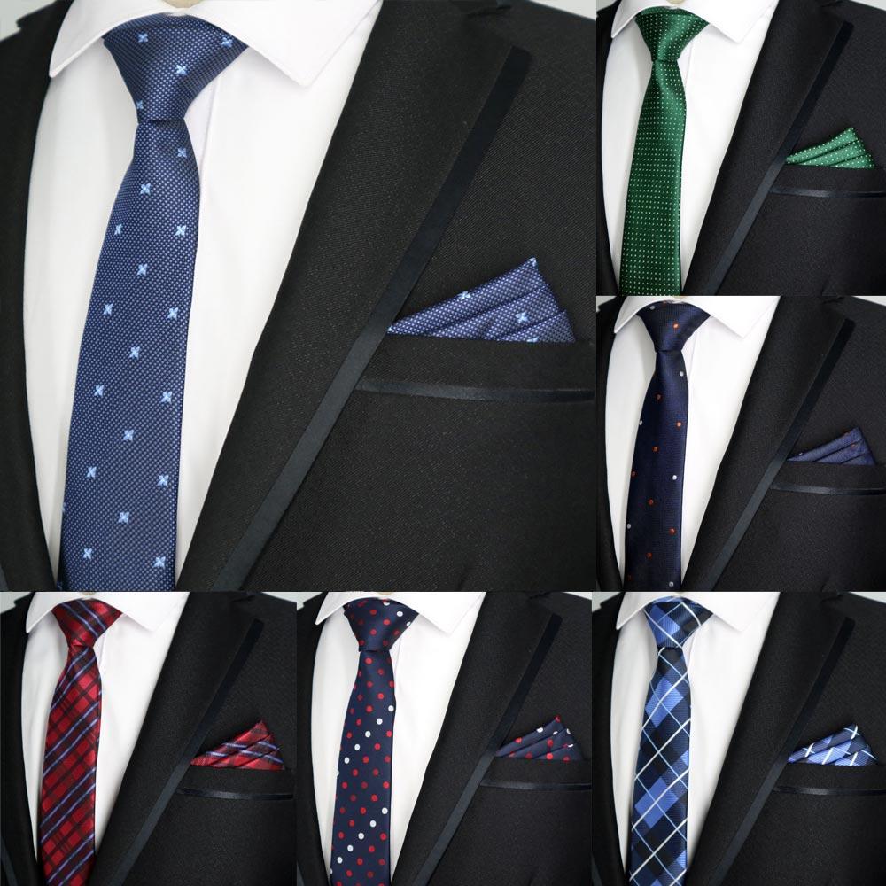 Men's Ties & Handkerchiefs Constructive Doobu New 6cm Men Skinny Tie Set Pocket Square Floral Dots Man Ties Slim Matching Handkerchief Necktie Wedding Party